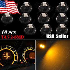 10x Amber T5/T4.7 Neo Wedge LED Bulb SMD Cluster Instrument Dash Base Lights 12V