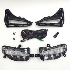 LED Fog Driving Light Kit For 17-18 Toyota Corolla L LE XLE Switch Bezel ECO New