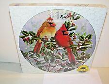 F.X. Schmid Winter's Splendor Cardinal's 440 pc. Circle Circles Jigsaw Puzzle