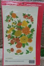 Meyercord Vintage Water Applied Decal Transfer Extra Large Size Floral Flowers