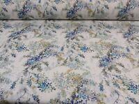 Giverny Camille Blue/Grey Panama Cotton Fibre Naturelle  Curtain/Craft Fabric