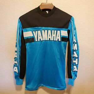 Vintage 1980's Yamaha Motocross Racing Jersey Large - hannah fox axo jt