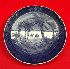 Vintage Royal Copenhagen Christmas Collector Plate, 1972, In the Desert