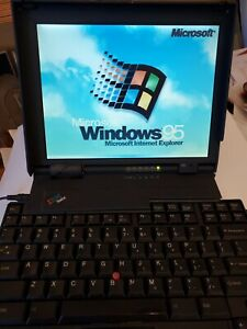 IBM Thinkpad 701c  Butterfly Laptop, semi-working w/ accessories & carrying case
