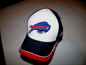 Buffalo Bills Reebok Red White & Blue NEW Hat SIGNED by Joe DeLamielleure HOF.