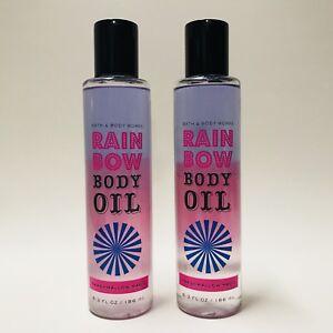 2 Bath & Body Works Marshmallow Magic Rainbow Body Oil 6.2 fl.oz Tri-Phase