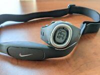 Nike Digital Triax C3HRM Pulse Sport Chrono Alarm Gray Quartz New Battery Watch
