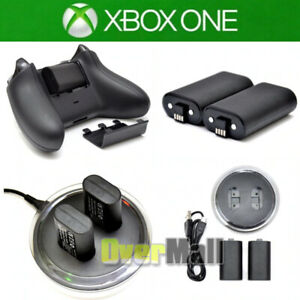 For XBOX ONE Controller Play Charging Dock + 2x Rechargeable Battery Pack