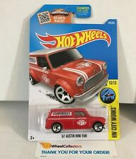 '67 Austin Mini Van #175 * RED * 2016 Hot Wheels * NC7