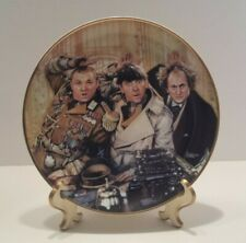 Rare* The Three Stooges Franklin Mint Heirloom 1993 Porcelain Plate Ltd Ed Easel