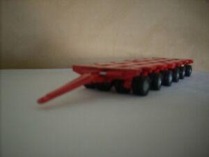"CORGI HEAVY HAULAGE - 1.50 SCALE NICOLAS TRAILERS X 2  "" PLAIN RED """
