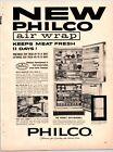 "PHILCO AIR WRAP REFRIGERATOR Vintage 1960's 8.5"" X 11.25"" Magazine Ad M29"