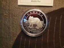 2014 Proof $5 Arctic Fox Canada .9999 silver five dollar coin