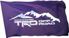 TRD Off Road Flag Banner 3x5 ft Toyota Racing Development Car Garage Black