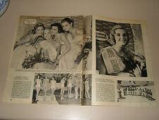 MISS EUROPE CORINE ROTTSCHAFER clipping ritaglio articolo photo=ANNI '50=73
