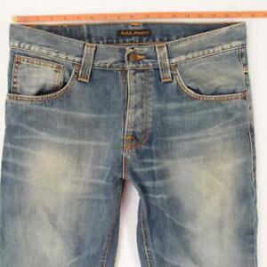 Hommes Nudie STRAIGHT ALF Regular Bleu Jeans W34 L34