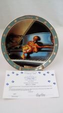 Danbury Mint Garfield Cat Plate & Coa Dear Diary I Composed Myself Piano Pianist
