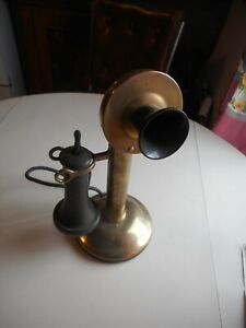 Antique Brass Northern Electric CO. Candlestick Telephone