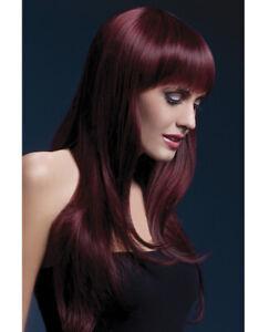Sexy Smiffy The Fever Sienna Black Cherry Burgundy Long w/ Bangs Wig