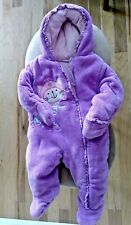 Babies R Us Infant  light purple/pink Size 6M Snow Suit Baby Hooded,  Full Zip