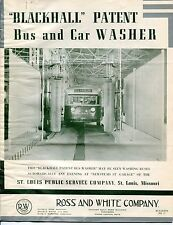 "1940s Vintage Brochure & Ltrs: ""Blackhall Patent Bus & Car Washer"""