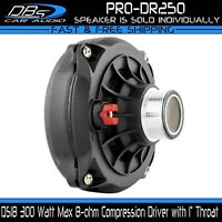 """DS18 PRO-DR250 Compression Driver 300W 8 ohm 2"""" VC Phenolic Horn Speaker Tweeter"""