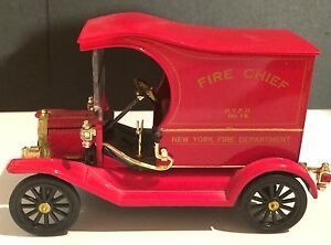 Ford Model T Diecast, Fire Chief Vehicle, NYFD #18, National Motor Museum Mint