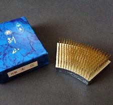 "Japanese Ikebana Kenzan 3.25""L x 2""W Fan Suehiro Needle Pin Frog Made in Japan"