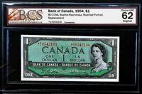 1954 Bank of Canada $1 Replacement Note *D/O BCS CH.UNC62 Original BC-37bA