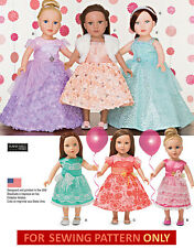 SEWING PATTERN! MAKE DOLL CLOTHES~PARTY DRESS! FIT AMERICAN GIRL GRACE~SAMANTHA