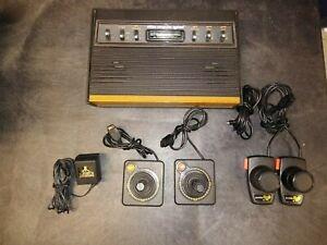 Atari 2600 Woodgrain 6 Switch System Joysticks, Paddles, Games!!  TESTED!!
