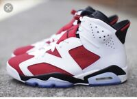 Nike Air Jordan 6 VI Retro White/Carmine/Black Youth Size 3