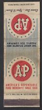 A & P. Old Matchbox cover