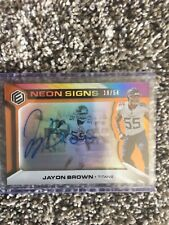 Jayon Brown Auto /54 2019 Panini Elements Neon Signs