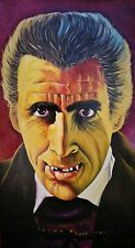"Huge ""Dracula"" oil painting on masonite"