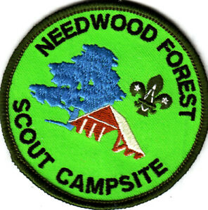 Boy Scout Badge NEEDWOOD FOREST Scout CampSite