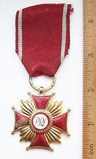 "Poland Cross of Merit Order 1nd Class ""PRL"" Krzyż Zasługi Medal"