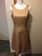 TALBOTS 8 New Gold Silk Blend Sleeveless Dress