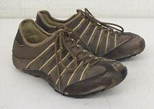 Tsubo Japan Brown Leather Fashion Sneakers US Women's 7.5 EU 37.5 Fast Shipping