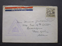 Netherlands Antillies WWII Censored Airmail Cover to USA - Z7193