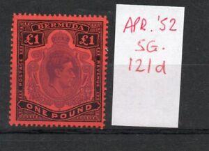 Bermuda GEORGE VI £1 SG121d April . 52 Ptg. superb MNH condition verified.