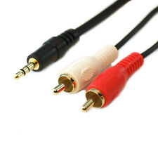 50Ft 15m Premium 3.5mm Stereo to 2 RCA Audio Cable - Gold Plated