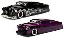 1951 Mercury With Flames Purple Jada 1 24 Big Time Kustoms Diecast Model 99061