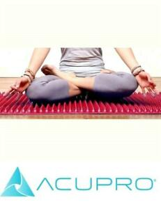 New Acupro Yoga Mat For Yoga Pilates Rehab Acupressure Therapy + Tai Chi Energy