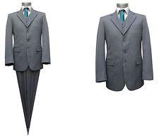 streifen Herren Anzug 3-teilig Gr.114 Grau