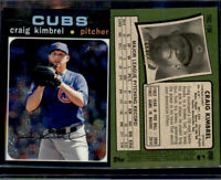 2020 Topps Heritage Craig Kimbrel Chrome Parallel #'ed 858/999 Cubs SP