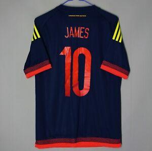 COLOMBIA NATIONAL TEAM 2015 2016 AWAY FOOTBALL SHIRT JERSEY ADIDAS #10 JAMES