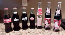 Vtg Coca Cola Bottle Lot 1982 1999 World Champions Christmas Classic