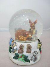 Disney Bambi Musical Water Snow Globe Enesco Christmas Cantique De Noel