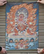 "24""Tibet Cloth Buddhism thangka Vajrapani Mahakala Buddha Statue Tangka Thangka"
